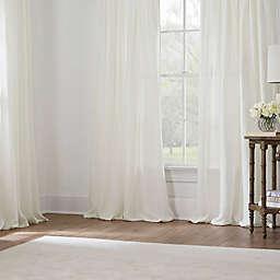 Turkish Cotton Sheer Window Curtain Panels