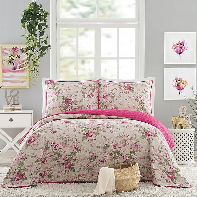 Alternate image 1 for Jessica Simpson Beckett Reversible Quilt Set
