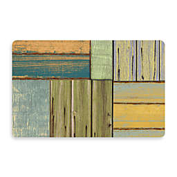 Bungalow Flooring New Wave 18-Inch x 27-Inch Patchwork Wood Kitchen Mat