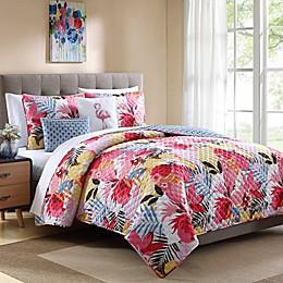 Lanai Tropical Reversible Quilt Set