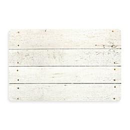 Bungalow Flooring New Wave 18-Inch x 27-Inch Whitewash Kitchen Rug