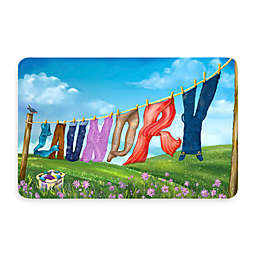 Bungalow Flooring New Wave 18-Inch x 27-Inch Laundry Line Kitchen Mat