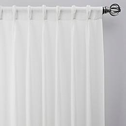 Turkish Cotton Sheer Pinch Pleat Window Curtain Panel