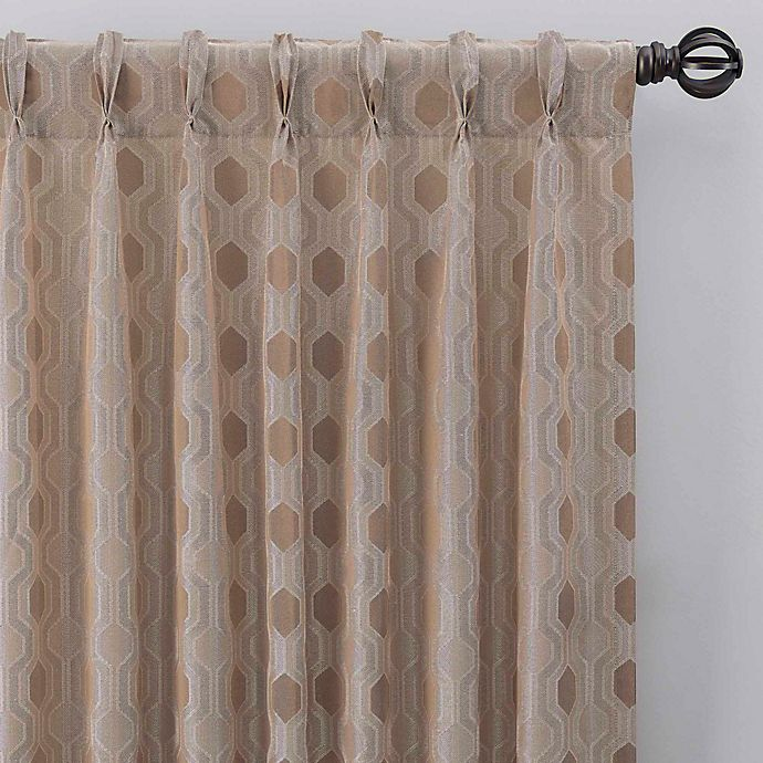 Alternate image 1 for Verde 84-Inch Pinch Pleat Window Curtain Panel in Linen