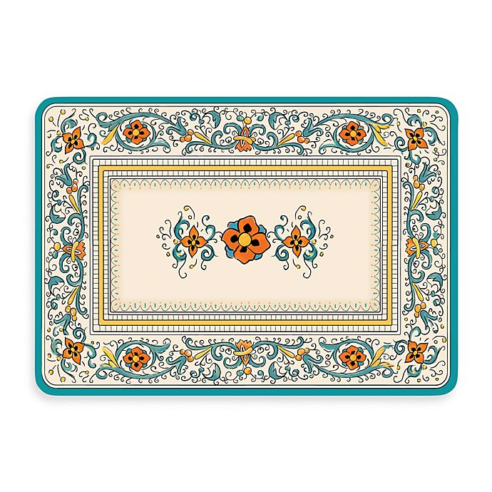 Bungalow Flooring New Wave 22 Inch X 31 Inch Spring Porto Tuscan Blue Kitchen Mat Bed Bath Beyond