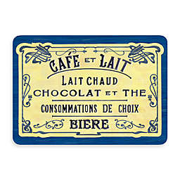 Bungalow Flooring New Wave 22-Inch x 31-Inch French Chocolate Blue Kitchen Mat