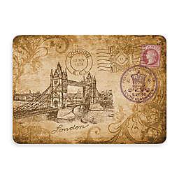 Bungalow Flooring New Wave 22-Inch x 31-Inch Postcard England Kitchen Mat