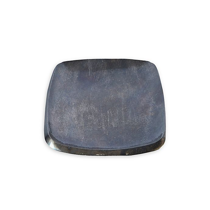 Alternate image 1 for Julia Knight® Eclipse 6-Inch Stackable Square Tray in Steel Blue