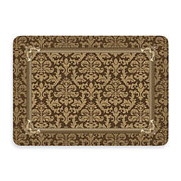 Bungalow Flooring New Wave 22-Inch x 31-Inch Brown Tapestry Border Kitchen Mat