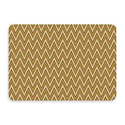 Bungalow Flooring New Wave 22-Inch x 31-Inch Chevron Cashew Kitchen Mat
