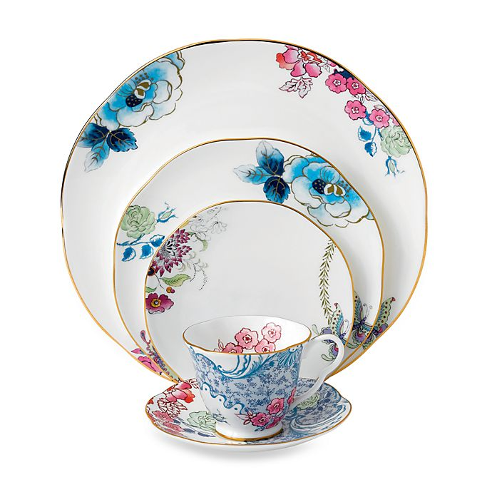 Alternate image 1 for Wedgwood® Butterfly Bloom 5-Piece Place Setting