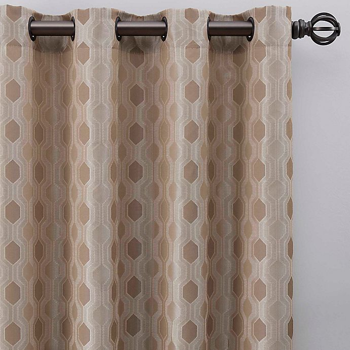 Alternate image 1 for Verde 63-Inch Grommet Window Curtain Panel in Linen