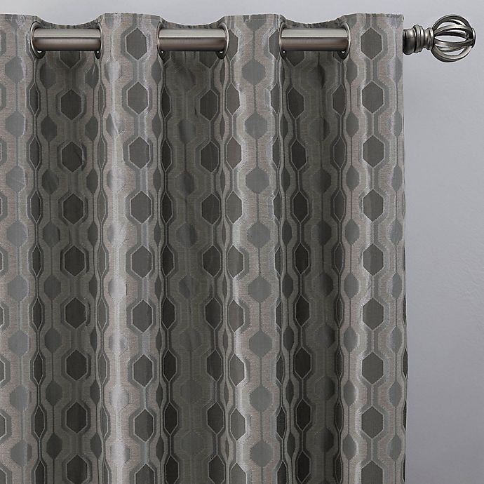 Alternate image 1 for Verde 84-Inch Grommet Window Curtain Panel in Silver/Blue