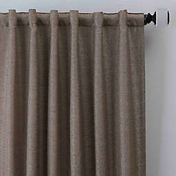 Zacapa 108-Inch Rod Pocket/Back Tab Window Curtain Panel in Cappuccino
