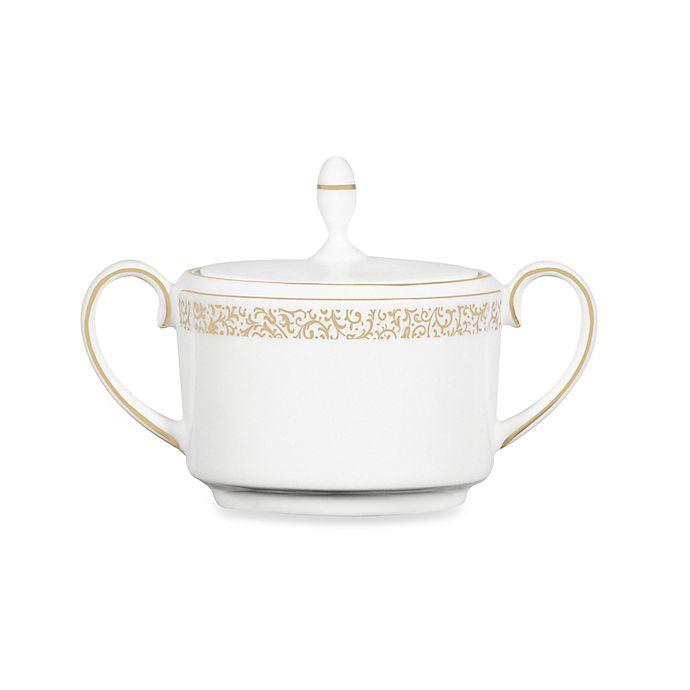 Alternate image 1 for Vera Wang Wedgwood® Filigree Gold 5.5-Inch Creamer
