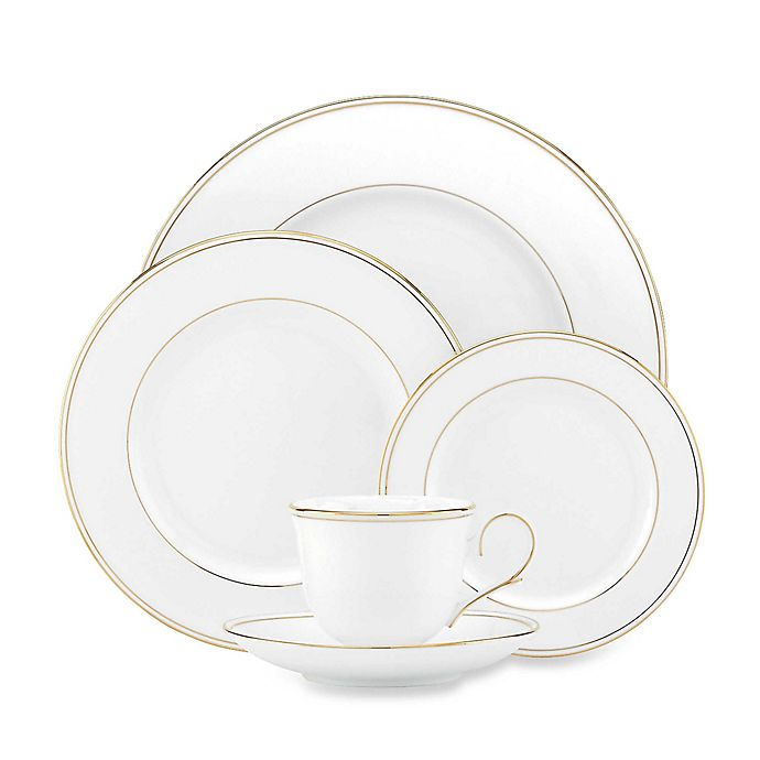 Alternate image 1 for Lenox® Federal Gold™ 5-Piece Place Setting