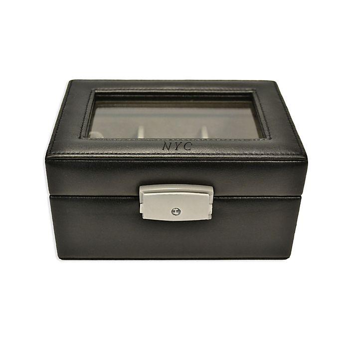 Alternate image 1 for Royce New York 3-Slot Watch Box in Black