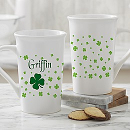 Irish Clover Personalized Latte Mug