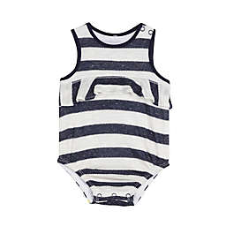 Splendid® Stripe Ruffle Bodysuit in Navy
