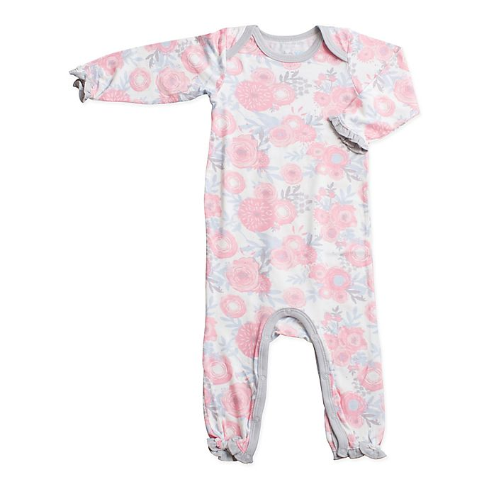 Alternate image 1 for Bestaroo™ Size 0-3M Floral Coverall in Pink