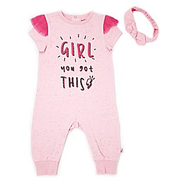 "Mini Heroes™ 2-Piece ""You Got This"" Coverall and Headband Set"