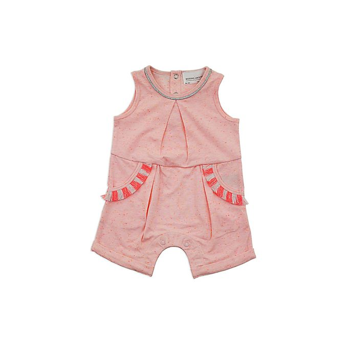 Alternate image 1 for Kidding Around Size 6M Tassel Romper in Coral