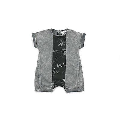 Kidding Around Modern Print Romper in Grey/Black