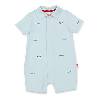 Magnetic Me™ Narwhal Magnetic Modal Romper in Blue