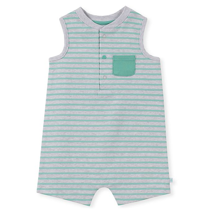 Alternate image 1 for Absorba® Striped Sleeveless Romper in Grey