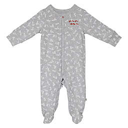 ED Ellen DeGeneres Words Print Footie in Grey