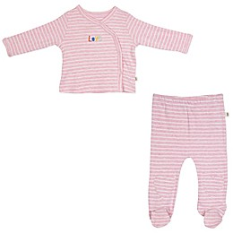 ED Ellen DeGeneres 2-Piece Kimono and Pant Set in Pink