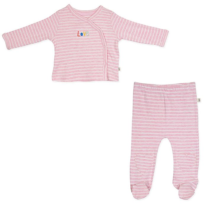 Alternate image 1 for ED Ellen DeGeneres 2-Piece Kimono and Pant Set in Pink