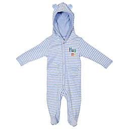 ED Ellen DeGeneres Stripe Hooded Footie in Blue