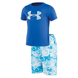 Under Armour® 2-Piece Marble Volleyball Shirt and Short Set in Blue