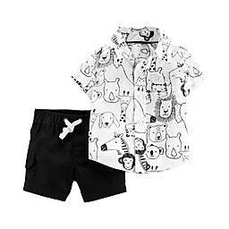 carter's® 2-Piece Safari Animal Set in Black/White