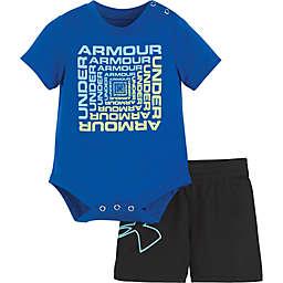 Under Armour® 2-Piece Twist Bodysuit and Short Set in Blue