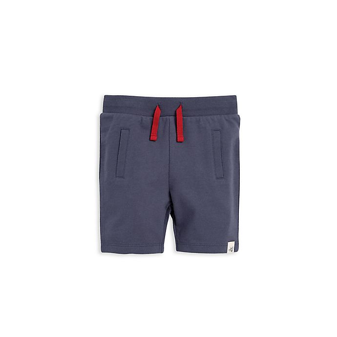 Alternate image 1 for Burt's Bees Baby® French Terry Short in Blue