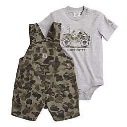 Carhartt® 2-Piece Camo Bodyshirt and Shortall Set in Green