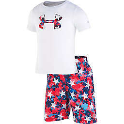 Under Armour® 2-Piece Americana Volleyball Shirt and Short Set in Red/White