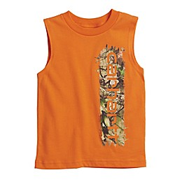 Carhartt® Camo Sleeveless Tee in Orange
