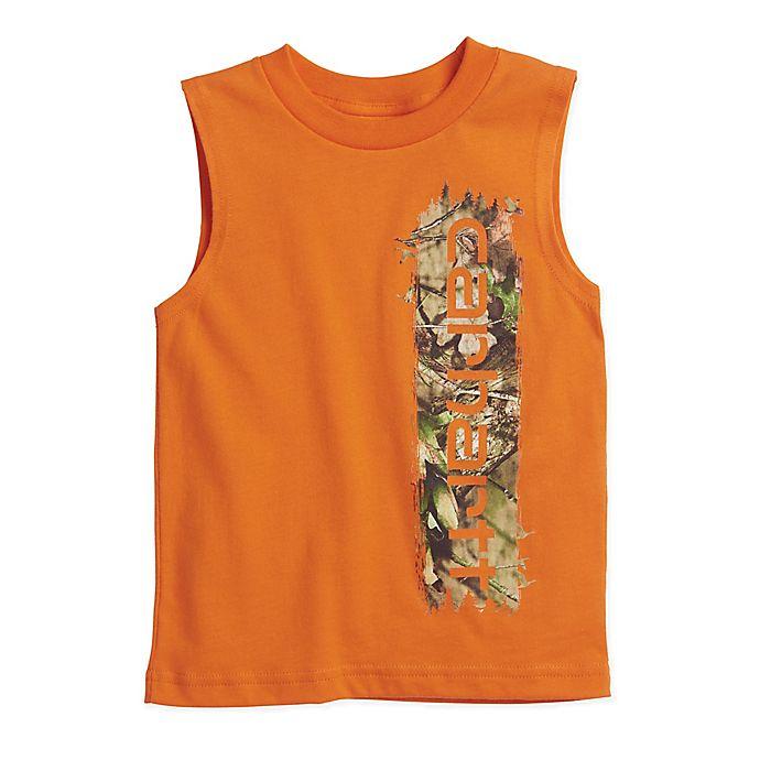 a36161576 Carhartt® Camo Sleeveless Tee in Orange | buybuy BABY