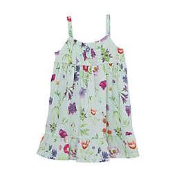 Ruffle Vest Dress in Aqua