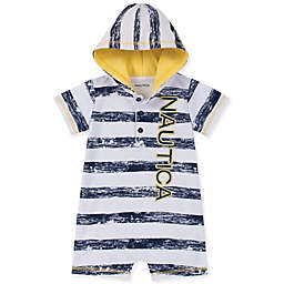Nautica® Striped Hooded Coverall in Navy/Yellow