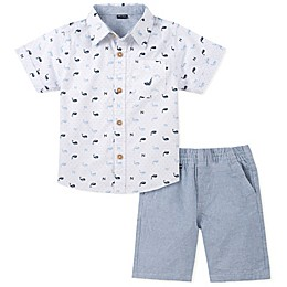 Nautica® 2-Piece Whale Shirt and Shorts Set