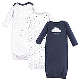 Hudson Baby® Size 0-6M 3-Pack Cloud Gowns in Navy