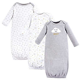Hudson Baby® Size 0-6M 3-Pack Cloud Gowns in Grey