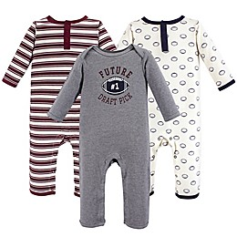 Hudson Baby® 3-Piece Football Coveralls in Red