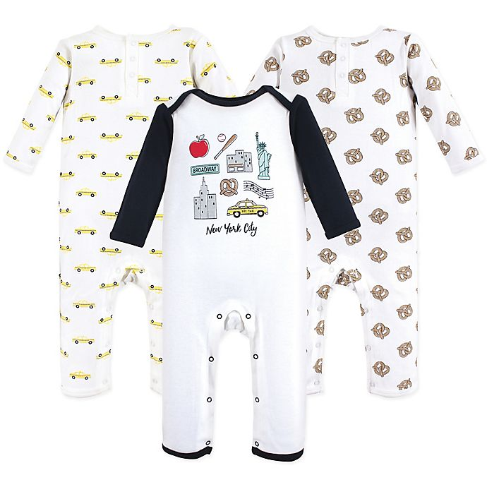 Alternate image 1 for Hudson Baby® 3-Piece NYC Coveralls