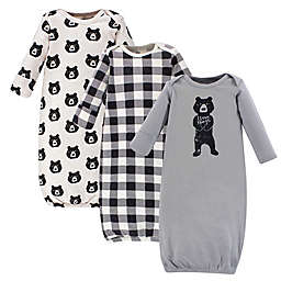 Yoga Sprout® Size 0-6M 3-Piece Bear Hugs Gown Set