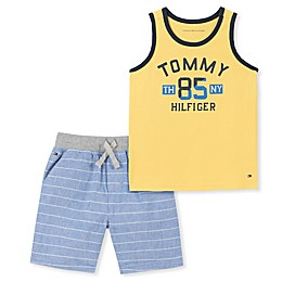 Tommy Hilfiger® 2-Piece Tank Top and Short Set in Yellow/Blue